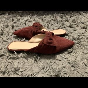 Forever 21 maroon mules